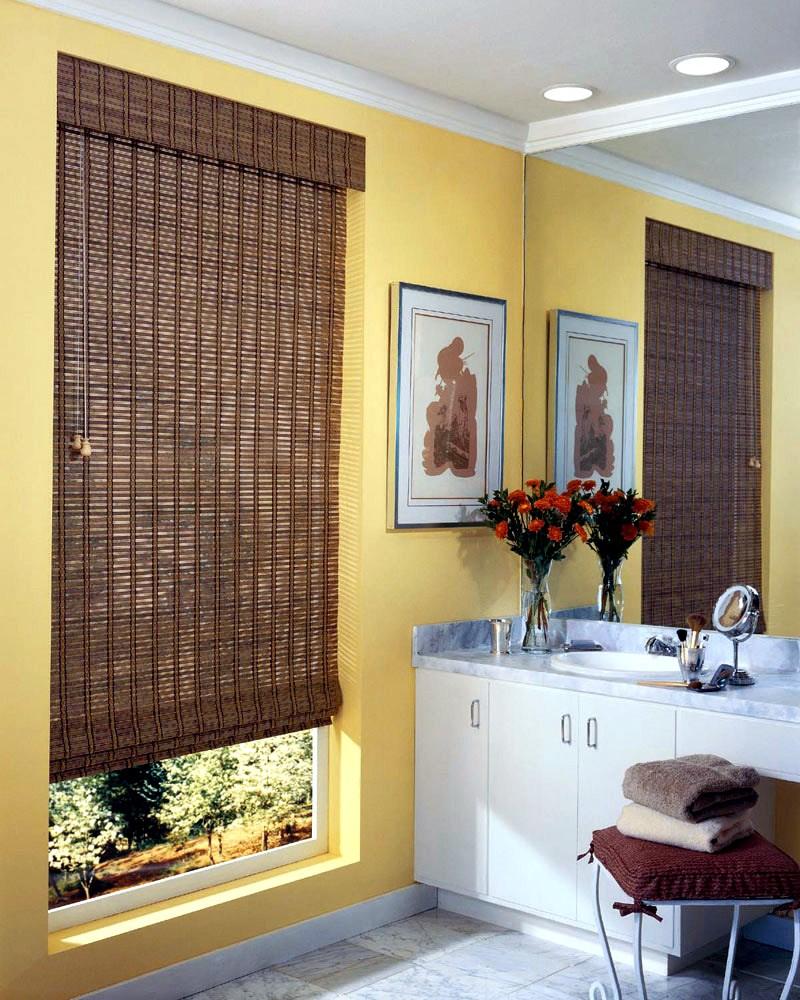 Деревянные шторы - 104 фото спользования деревянных занавесо.