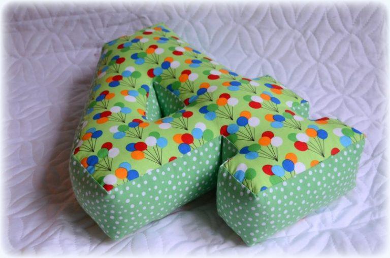 Сшить подушку букву своими руками фото