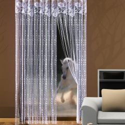укоротить нитяные шторы