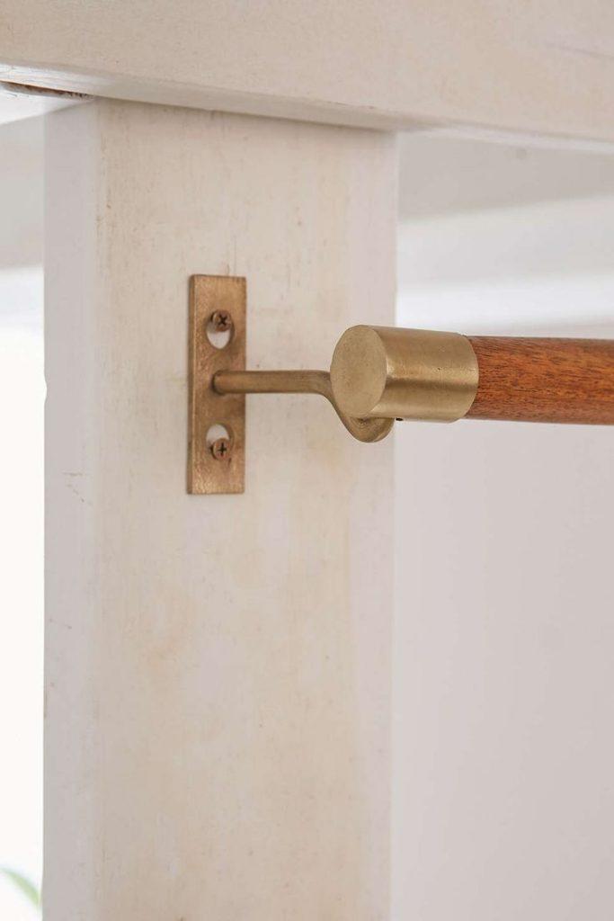 Curtain rod wood