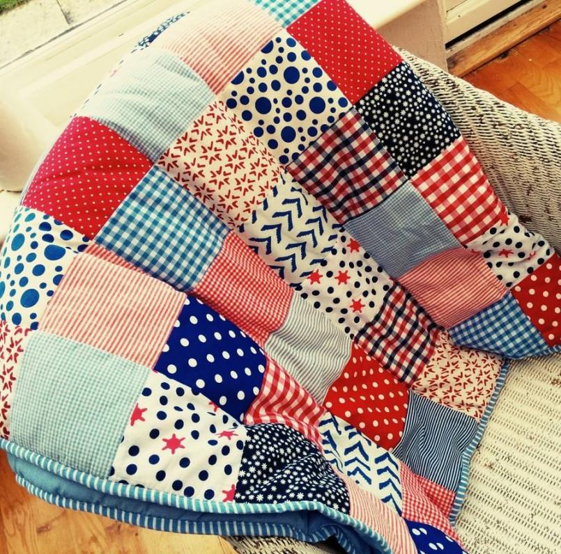 Лоскутное шитье одеяло своими руками