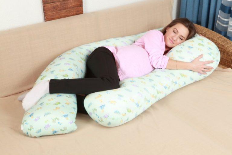 Как спать на подушке для беременных u 4