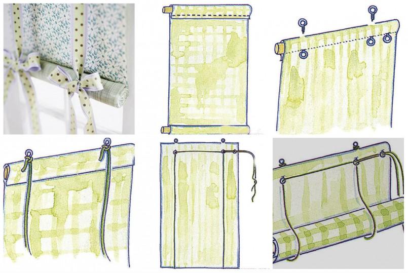 Как самой сделать рулонные шторы своими руками