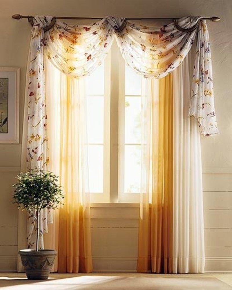 Фото дизайна штор на окнах