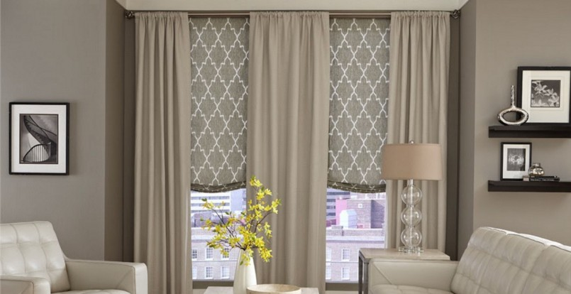 Модные шторы для гостиной фото 2016 современные идеи